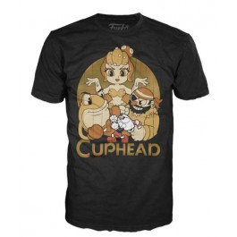 31044 - T-SHIRT - POP TEES - CUPHEAD AND BOSSES - XL