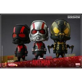 36046 - SIDESHOW COSBABY - ANT-MAN - COMPLETE SET (3 PEZZI) 9 CM