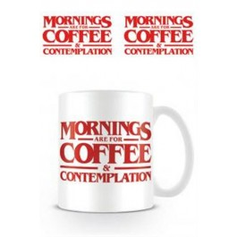 63500 - STRANGER THINGS - TAZZA 320ML MORNINGS ARE FOR COFFEE
