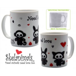 ABYMUG025 - SKELANIMALS - TAZZA MEDIA BOX -  NEED LOVE