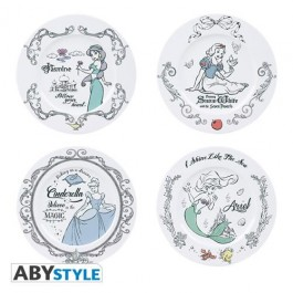ABYTAB007 - DISNEY - SET DI 4 PIATTI - DISNEY PRINCESS