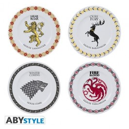 ABYTAB008 - GAME OF THRONES - SET DI 4 PIATTI - HOUSES
