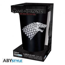 ABYVER114 - GAME OF THRONES - BICCHIERE STARK 500ML DI VETRO
