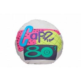 BACK TO THE FUTURE - ROUND CUSHION - 80'S CAFE