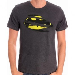 BATMAN - TS050 - T-SHIRT TORN LOGO L