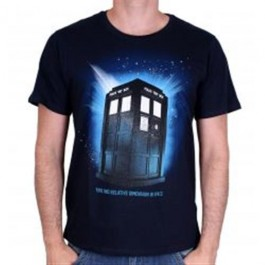 DOCTOR WHO - TS002 - T-SHIRT TARDIS IN SPACE M