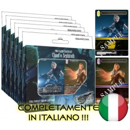 FINAL FANTASY TCG - BOX MAZZI (6 PEZZI) - VERSUS DECKS CLOUD VS SEPHIROTH