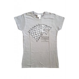 GAME OF THRONES - STARK LOGO CHARCOAL - DONNA - XL