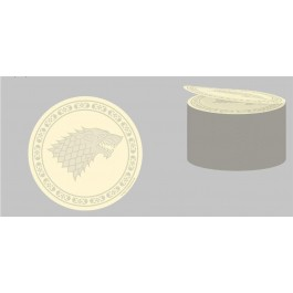 GAME OF THRONES - STICKY NOTE ROUNDED - STARK
