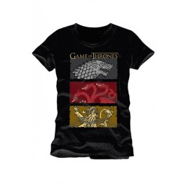 GAME OF THRONES - TS001 - T-SHIRT THE HOUSES OF THE KING L