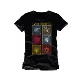 GAME OF THRONES - TS004 - T-SHIRT BADGES OF THE KING XL