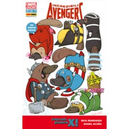 INCREDIBILI AVENGERS 17 - ALL NEW MARVEL NOW - COVER VARIANT ANIMAL