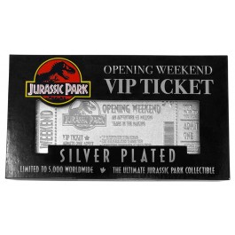 JURASSIC PARK - SILVER PLATED LIMITED EDITION TICKET