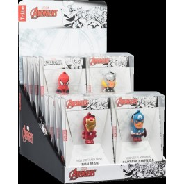MARVEL - ESPOSITORE DA BANCO - CHIAVETTE USB 16PZ - MARVEL END GAME (16GB)