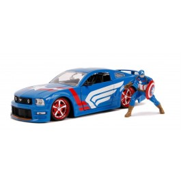 MARVEL - FORD MUSTANG GT W/CAPTAIN AMERICA 2006 - SCALA 1:24