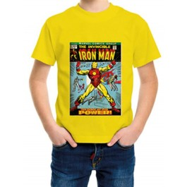 MARVEL COMICS - T-SHIRT BAMBINO IRON MAN COVER 5-6 ANNI