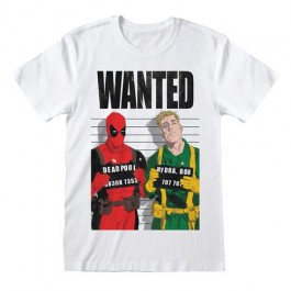 MARVEL COMICS DEADPOOL - T-SHIRT - WANTED S