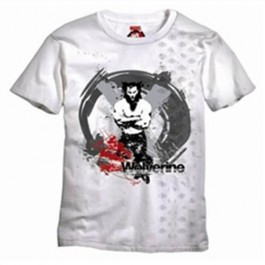 MARVEL EXTREME T-SHIRT WOLVERINE CROSSES ARMS WHITE - L