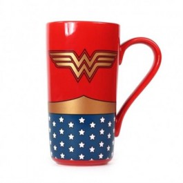 MUGLWW01 - WONDER WOMAN - MUG LATTE BOXED - WONDER WOMAN (LOGO)