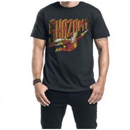SHAZAM - T-SHIRT - SHAZAM - ALL THE HEROES DISTRESSED - M