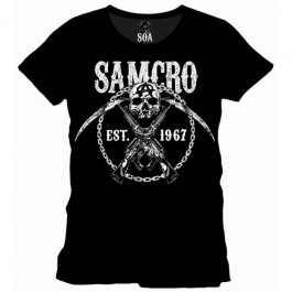 SONS OF ANARCHY - TS010 - T-SHIRT SAMCRO CHAINED S