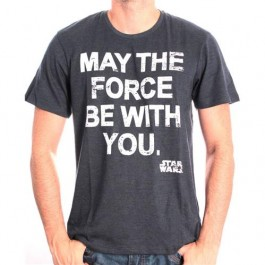 STAR WARS - TS044 - T-SHIRT MAY THE FORCE STAR WARS M