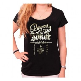 SUICIDE SQUAD - TS009 - T-SHIRT DONNA PROPERTY OF JOKER M