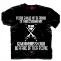 42796 - V FOR VENDETTA - PEOPLE & GOVERNEMENT BLACK T-SHIRT L