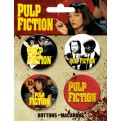 55587 - PULP FICTION - BUTTONS 4 PACK