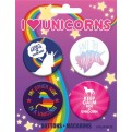 55879 - UNICORNS - BUTTONS 4 PACK