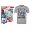 6657 - T-SHIRT - POP TEES 18 - CAPTAIN AMERICA - S