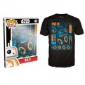 7870 - T-SHIRT - POP TEES 42 - STAR WARS BB-8 BLUEPRINT - L