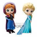 85661 - DISNEY: FROZEN - Q POSKET - ANNA & ELSA (NORMAL COLOR VER.) - FIGURE 14CM