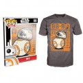 8938 - T-SHIRT - POP TEES 56 - STAR WARS BB-8 - L