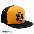 ABYCAP020 - ONE PIECE - CAPPELLINO - BLACK & YELLOW TRAFALGAR