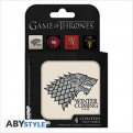 ABYCOS002 - GAME OF THRONES - SET 4 SOTTOBICCHIERI - HOUSES