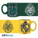 ABYMUG307 - HARRY POTTER - SET 2 MINI-MUGS 110ML - SLYTHERIN&HUFFLEPUFF