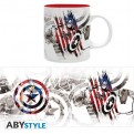 ABYMUG325 - MARVEL - TAZZA 320ML - CAPITAN AMERICA CAP DESIGN