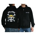 ABYSWE002L - FELPA - ONE PIECE - SKULL WITH MAP BLACK L