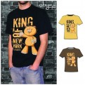 ABYTEX012M - T-SHIRT UOMO KING OF NEW YORK BLACK M