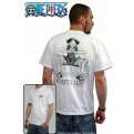 ABYTEX045XL - T-SHIRT - ONE PIECE - WANTED WHITE XL