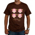 ABYTEX053L - T-SHIRT - ONE PIECE - CHOPPER CHOCOLATE L