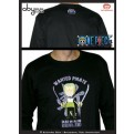 ABYTEX113XL - T-SHIRT - ONE PIECE - ZORO BLACK MANICHE LUNGHE XL