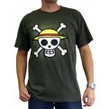ABYTEX130M - T-SHIRT - ONE PIECE - SKULL WITH MAP KAKI M