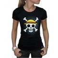 ABYTEX143L - T-SHIRT - ONE PIECE - SKULL WITH MAP DONNA L