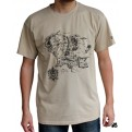 ABYTEX180XL - T-SHIRT - LORD OF THE RINGS - MAPPA TERRA DI MEZZO - XL