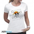 ABYTEX323XS - T-SHIRT - ONE PIECE - SKULL DRAWN BY LUFFY - DONNA XS