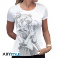 ABYTEX326S - T-SHIRT - SAILOR MOON - BUNNY AND MOON STICK - DONNA S