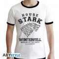 ABYTEX430 - GAME OF THRONES - T-SHIRT  HOUSE STARK MAN WHITE - PREMIUM L