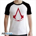 ABYTEX446 - ASSASSIN'S CREED - T-SHIRT CREST BLACK&WHITE L
